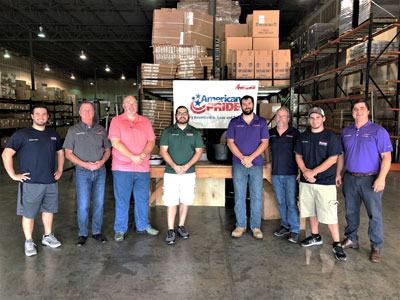 Anthony Adams, George Sexton, Russell Guarino, Ryan Harris, Blake Thibodeaux, Mike Lavergne, Corey Witko and Sammy Conzonere in new Jackson Supply location in Baton Rouge South