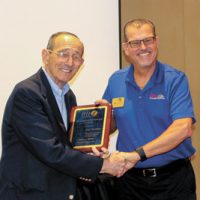 Charles Del Vecchio Presented SFACA Distinguished Service Award  at Installation Dinner