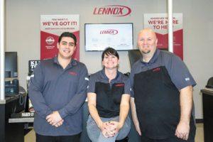 Ozzie Puerto, Crystal Harris and Jeff Stephens of Lennox Orlando.