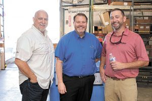 Dan Moody of Target Sales, Bill Holz of Ultra-Aire and Wyatt Swartz of Baker in Clearwater.