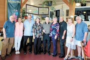 Peter Montana, Kaye Sessions, Jerry Lawson and Cynthia Van Vynckt of the Insider Newspapers, Walter Arnett and friends from Florida, Cathy and Loren Hendley and Maureen and Jerry Barnum.