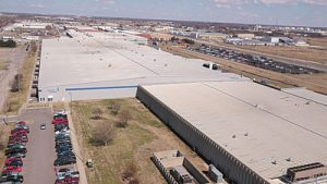 An aerial view of the Wichita manufacturing plant where the products are built.